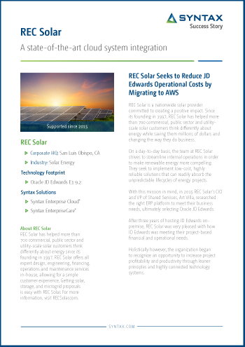 REC Solar Success Story